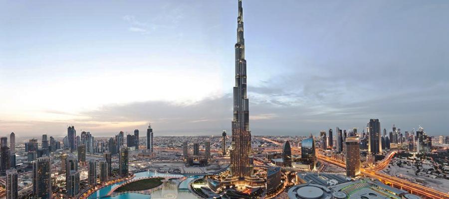 Burj Khalifa em Dubai é o maior prédio do mundo