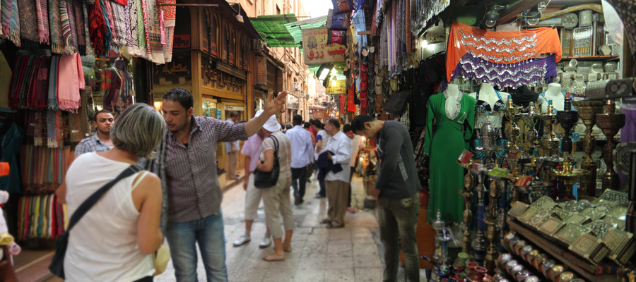 Bazar Khan al Khalili no Cairo, Egito