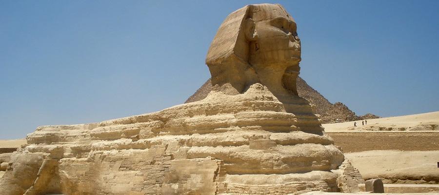 A Grande Esfinge no Cairo, Egito