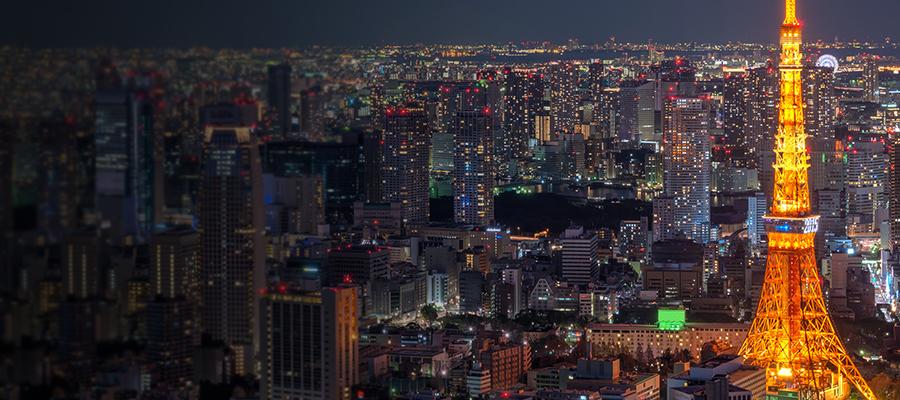 Torre de Tóquio durante a noite